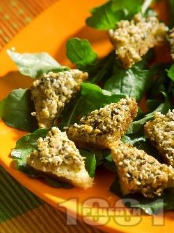Пържени филийки с тофу - снимка на рецептата